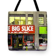 The Big Slice Pizzeria Downtown Toronto Restaurants Doner Kebob House Street Scene Painting Cspandau Tote Bag