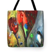 The Bird And The Tulips Tote Bag