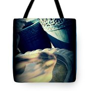 The Birdbath Corner Tote Bag