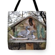 The Birdhouse Kingdom - The Geese A Swimming Tote Bag