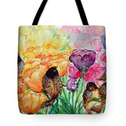 The Birds Of Spring Shower Blessings On You Tote Bag