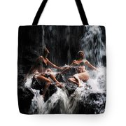 The Birth Of The Double Star. Anna At Eureka Waterfalls. Mauritius. Tnm Tote Bag
