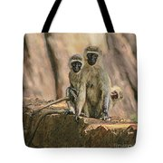 The Black-faced Vervet Monkey Tote Bag