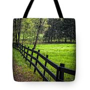 The Black Fence Tote Bag