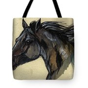 The Black Horse Tote Bag