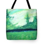 The Black Lake Tote Bag