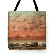 The Black Rocks At Trouville Tote Bag