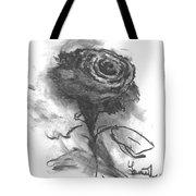 The Black Rose Tote Bag