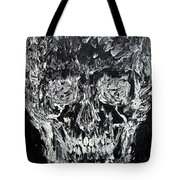 The Black Skull - Oil Portrait Tote Bag