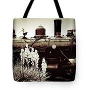 The Black Steam Engine Tote Bag