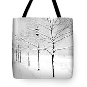 The Blizzard Bw Tote Bag