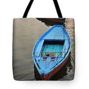 The Blue Boat Tote Bag by Kim Bemis
