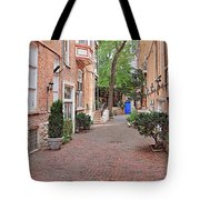 The Blue Door - Gaslight Court Chicago Old Town Tote Bag by Christine Till