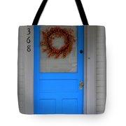 The Blue Door With Bittersweet Wreath Tote Bag