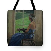 The Blue Dress, 2009 Oil On Canvas Tote Bag