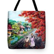 The Blue Fence        Sold Tote Bag