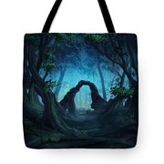 The Blue Forest Tote Bag by Cassiopeia Art