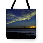 The Blue Hour Sunset Tote Bag