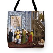 The Blue Mosque Tote Bag by Jean Leon Gerome