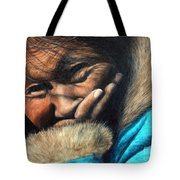 The Blue Parka Tote Bag