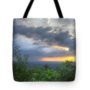 The Blue Ridge Mountains Tote Bag by Debra and Dave Vanderlaan