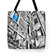 The Blue Window In Venice - Italy Tote Bag