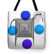 The Blue Zebra Tote Bag