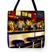 The Bolton Bean Trolley Car Diner In Bolton Landing New York Tote Bag