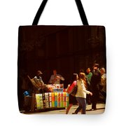 The Bookseller - New York City Street Scene - Street Vendor Tote Bag