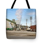 The Borax Plant And Locomotive Tote Bag