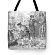 The Boston Massacre, March 5th 1770, Engraved By A. Bollett Engraving B&w Photo Tote Bag