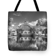 The Botanical Building In Black And White Tote Bag