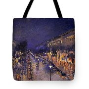 The Boulevard Montmartre At Night Tote Bag
