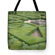 The Boxwood Garden At Chateau Villandry Tote Bag