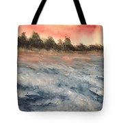 The Breaker At Sun Set  Tote Bag