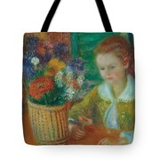 The Breakfast Porch Tote Bag by William James Glackens