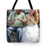 The Bride Plays The Trumpet- Destination Wedding New Orleans Tote Bag