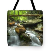 The Bridge At Alum Cave Tote Bag by Debra and Dave Vanderlaan