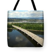 Oregon Bridge From Above Tote Bag