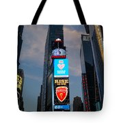The Bright Lights Of Times Square Tote Bag