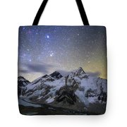 The Bright Stars Of Auriga And Taurus Tote Bag