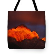 The Brilliance Of Light Mount Rundle Banff Tote Bag
