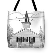 The Brownington Congregational Church Tote Bag by Richard Wambach