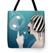 the Bubble man Tote Bag by Mark Ashkenazi