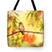 The Bubbly World Of A Hummingbird Tote Bag