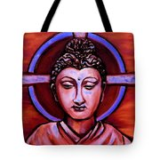 The Buddha In Red And Gold Tote Bag