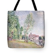 The Builder's Yard At Matrat Moret-sur-loing Tote Bag by Alfred Sisley