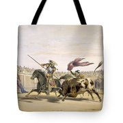 The Bull Following Up The Charge, 1865 Tote Bag