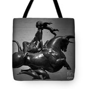 The Bull Ride Tote Bag