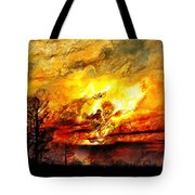 The Burning - Digital Paint Tote Bag